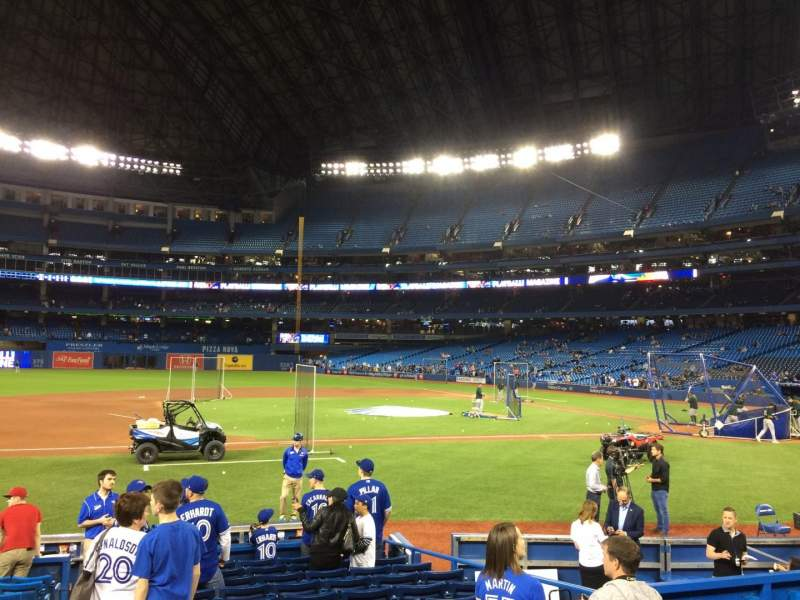 Seating view for Rogers Centre Section 127 Row 13 Seat 1