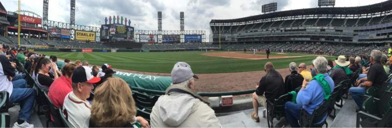 Seating view for Guaranteed Rate Field Section 145 Row 3 Seat 1