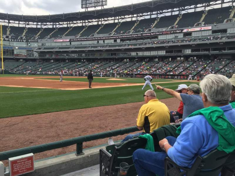 Seating view for U.S. Cellular Field Section 145 Row 3 Seat 1