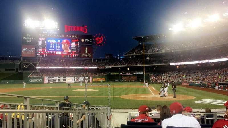 Seating view for Nationals Park Section HPS Row K Seat 10