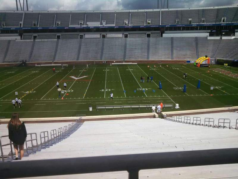 Seating view for Scott Stadium Section 124 Row TT Seat 18