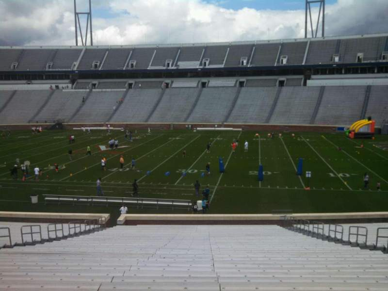Seating view for Scott Stadium Section 123 Row KK Seat 12