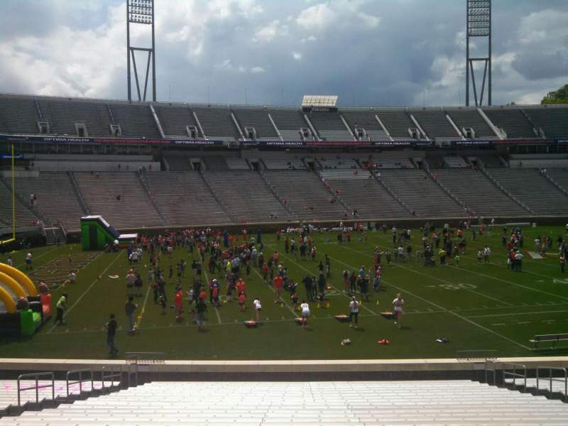 Seating view for Scott Stadium Section 110 Row AA Seat 13