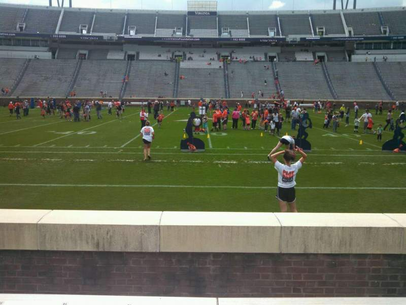 Seating view for Scott Stadium Section 107 Row E Seat 12