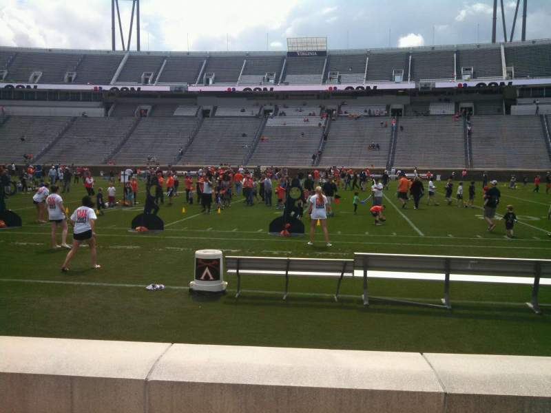 Seating view for Scott Stadium Section 106 Row C Seat 11