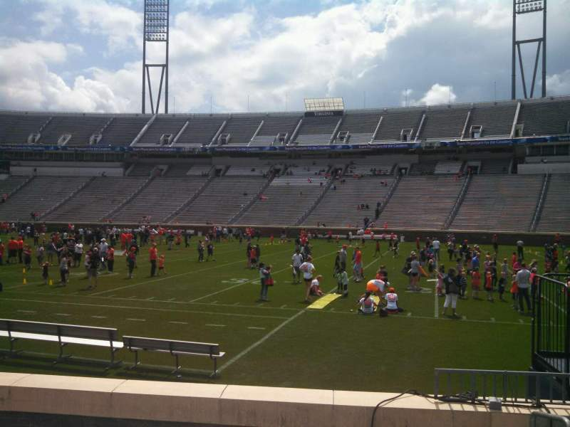 Seating view for Scott Stadium Section 105 Row H Seat 3