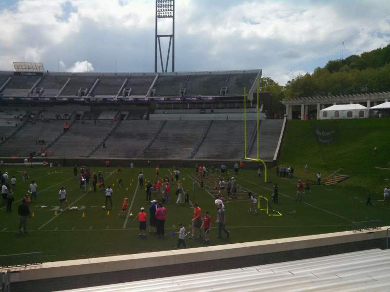 Seating view for Scott Stadium Section 103 Row O Seat 23