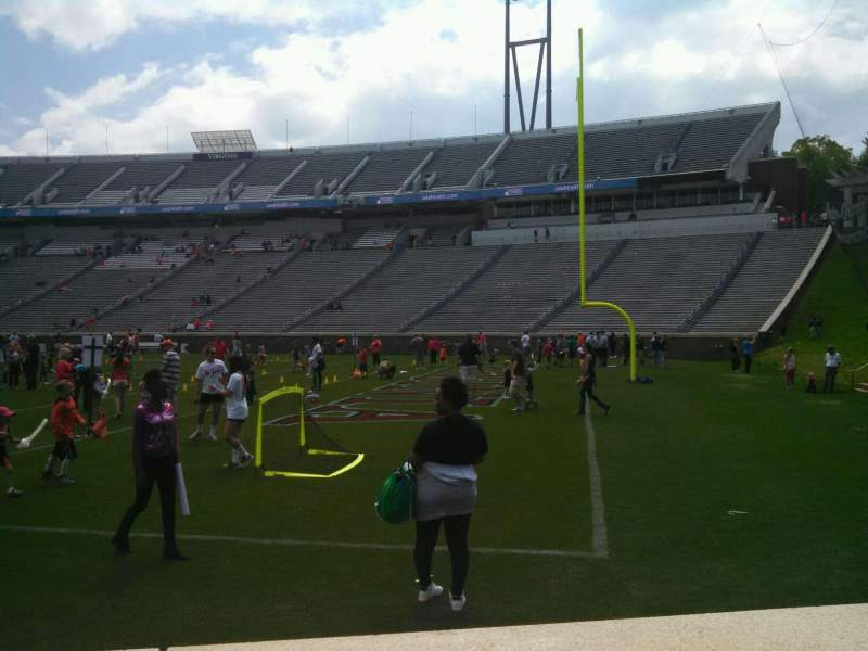 Seating view for Scott Stadium Section 102 Row A Seat 14