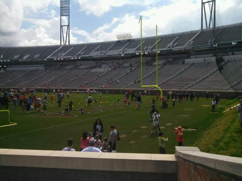 Seating view for Scott Stadium Section 101 Row G Seat 2