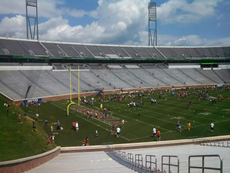 Seating view for Scott Stadium Section 131 Row NN Seat 5