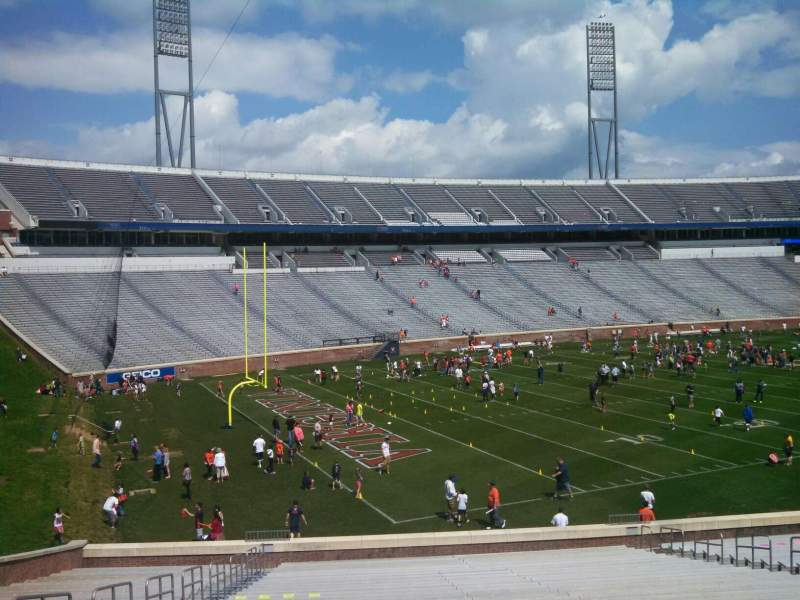 Seating view for Scott Stadium Section 130 Row JJ Seat 19