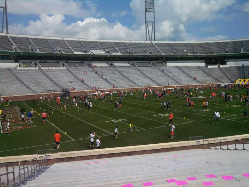 Seating view for Scott Stadium Section 129 Row Y Seat 21