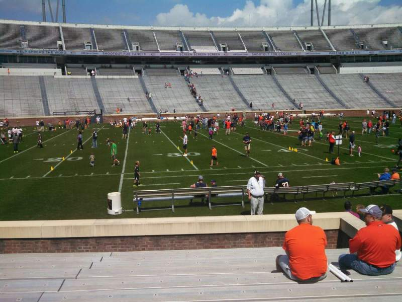 Seating view for Scott Stadium Section 127 Row M Seat 9
