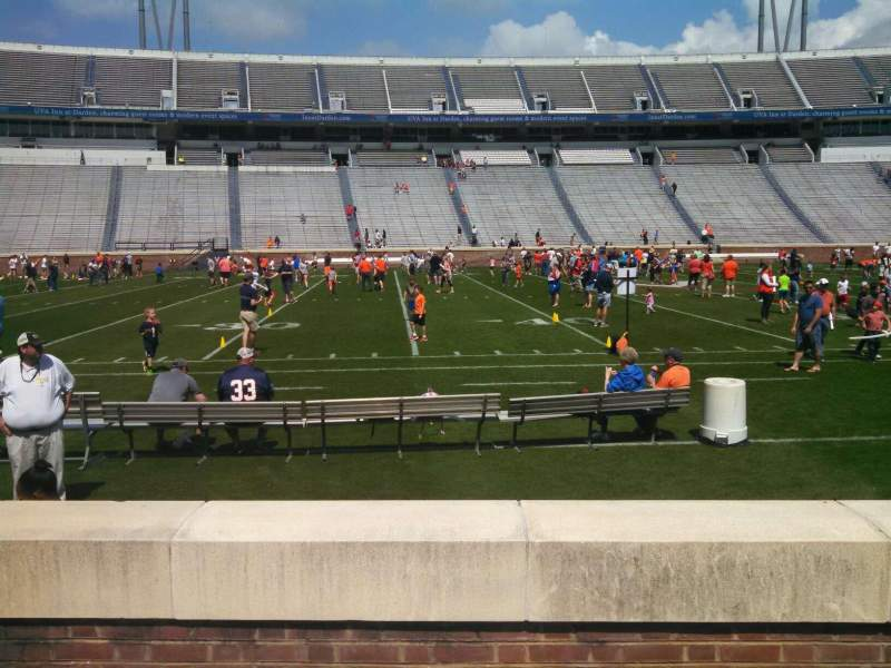 Seating view for Scott Stadium Section 126 Row D Seat 18