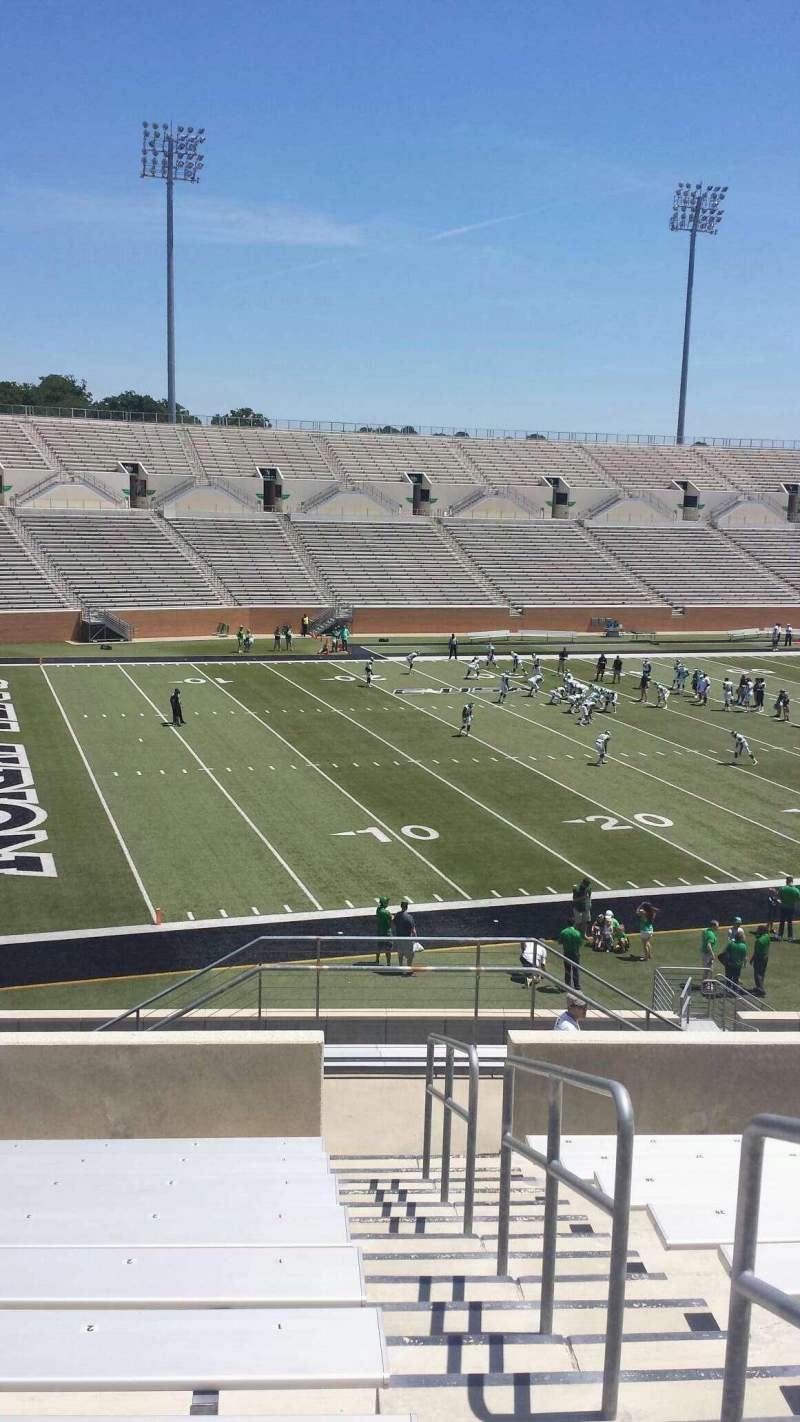 Seating view for Apogee Stadium Section 212 Row 10 Seat 1