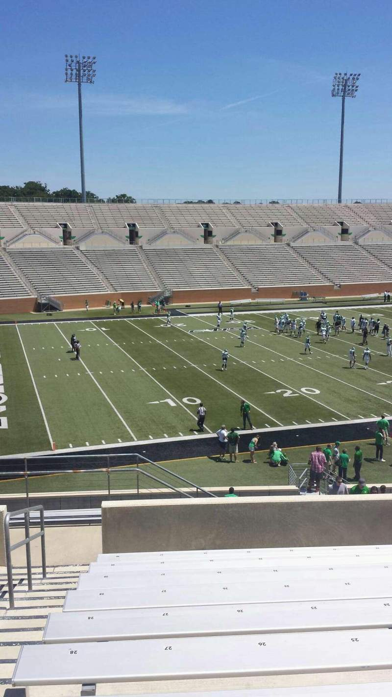 Seating view for Apogee Stadium Section 211 Row 10 Seat 27