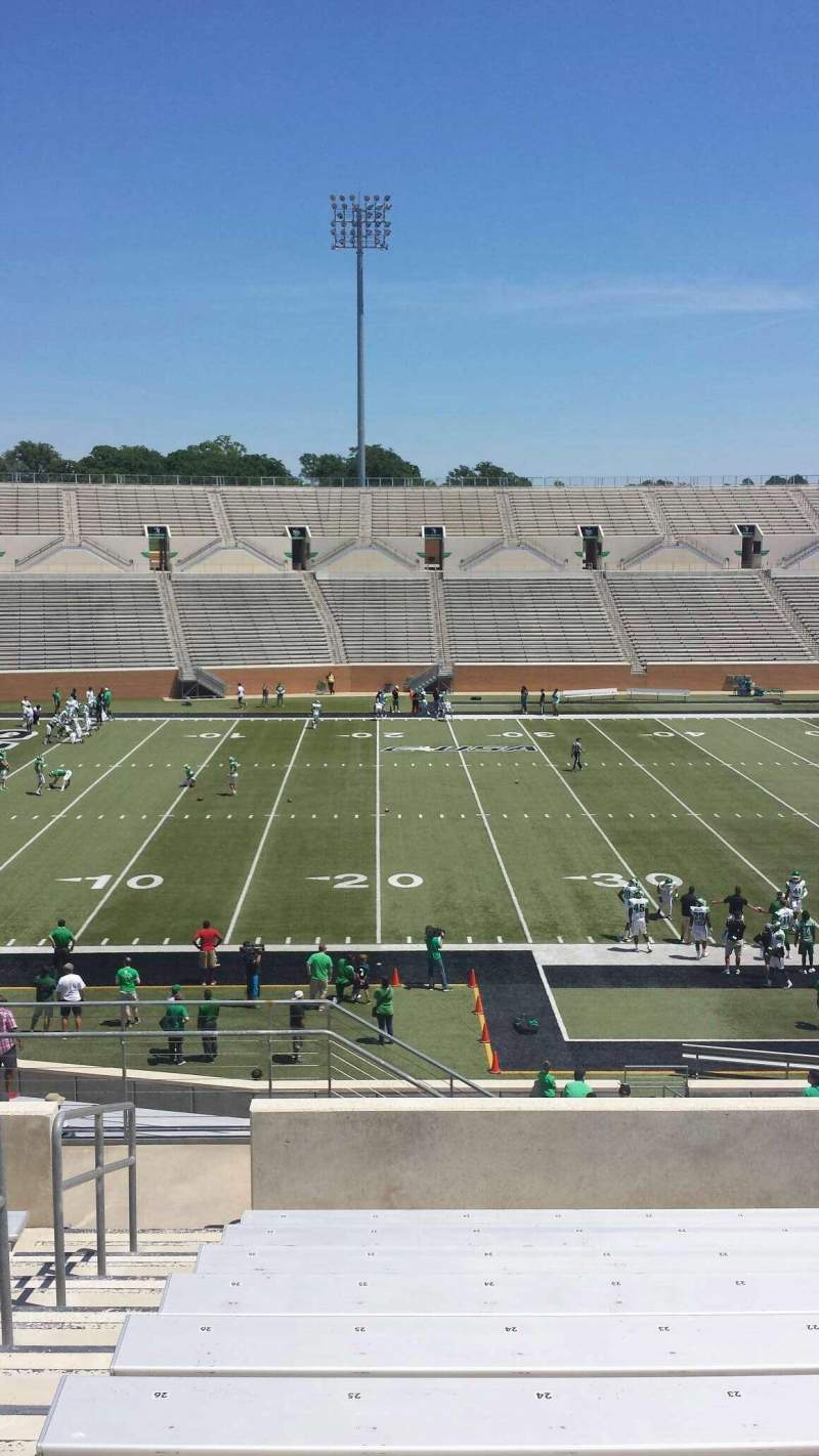 Seating view for Apogee Stadium Section 209 Row 10 Seat 26