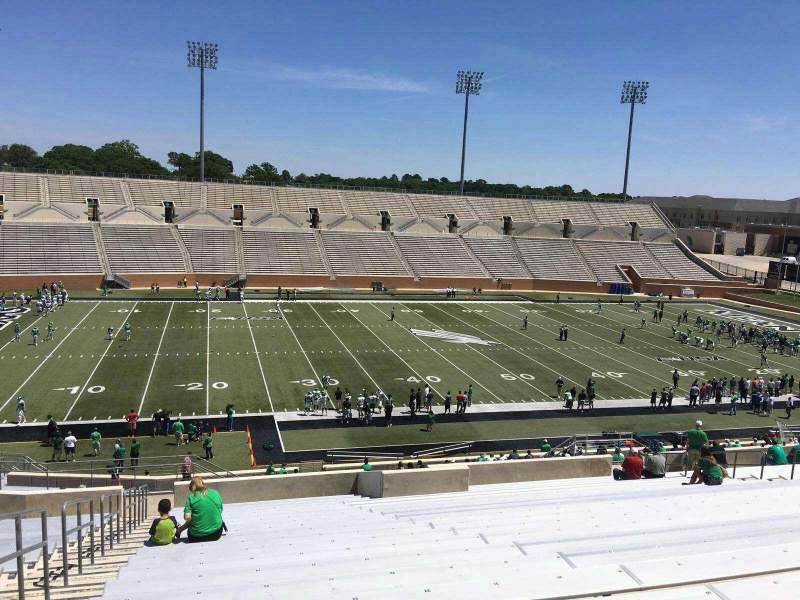Seating view for Apogee Stadium Section 208 Row 21 Seat 26