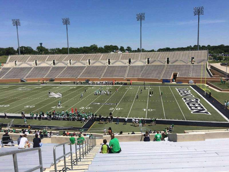 Seating view for Apogee Stadium Section 203 Row 20 Seat 27