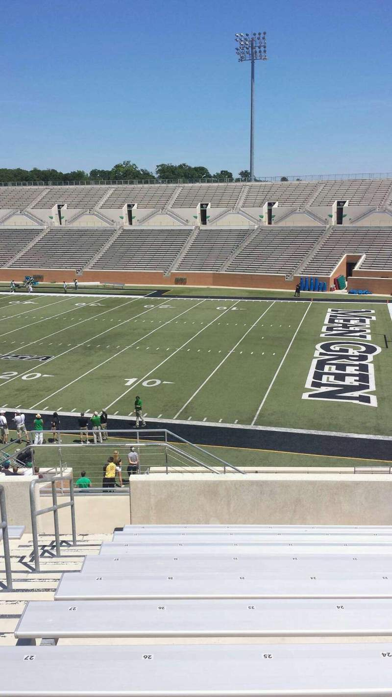 Seating view for Apogee Stadium Section 202 Row 10 Seat 26