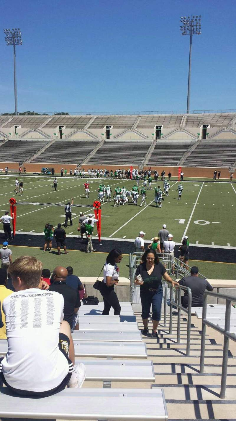 Seating view for Apogee Stadium Section 103 Row 12 Seat 1