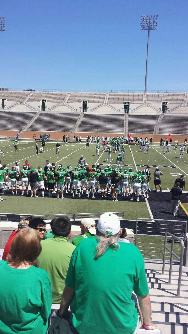 Seating view for Apogee Stadium Section 104 Row 9 Seat 1