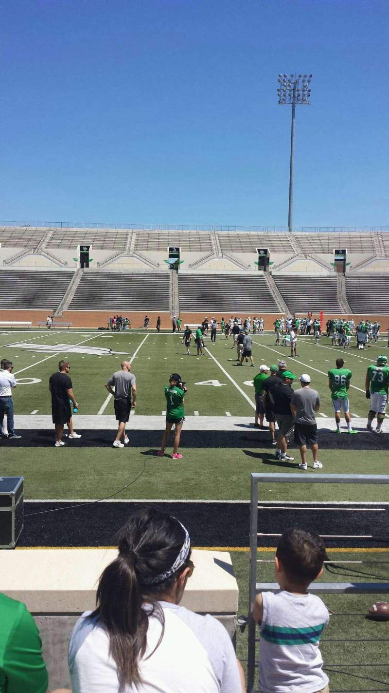 Seating view for Apogee Stadium Section 105 Row 3 Seat 1