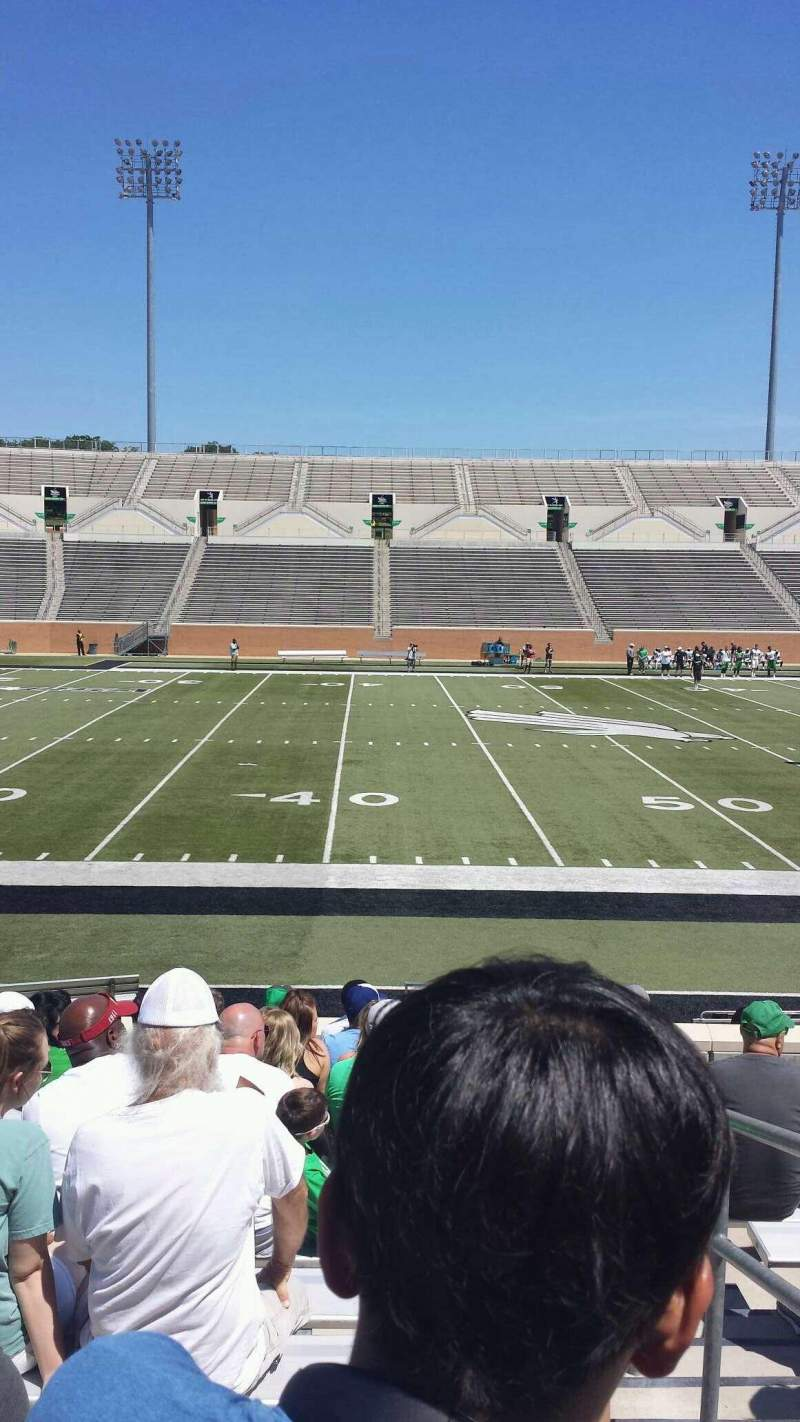 Seating view for Apogee Stadium Section 106 Row 12 Seat 1