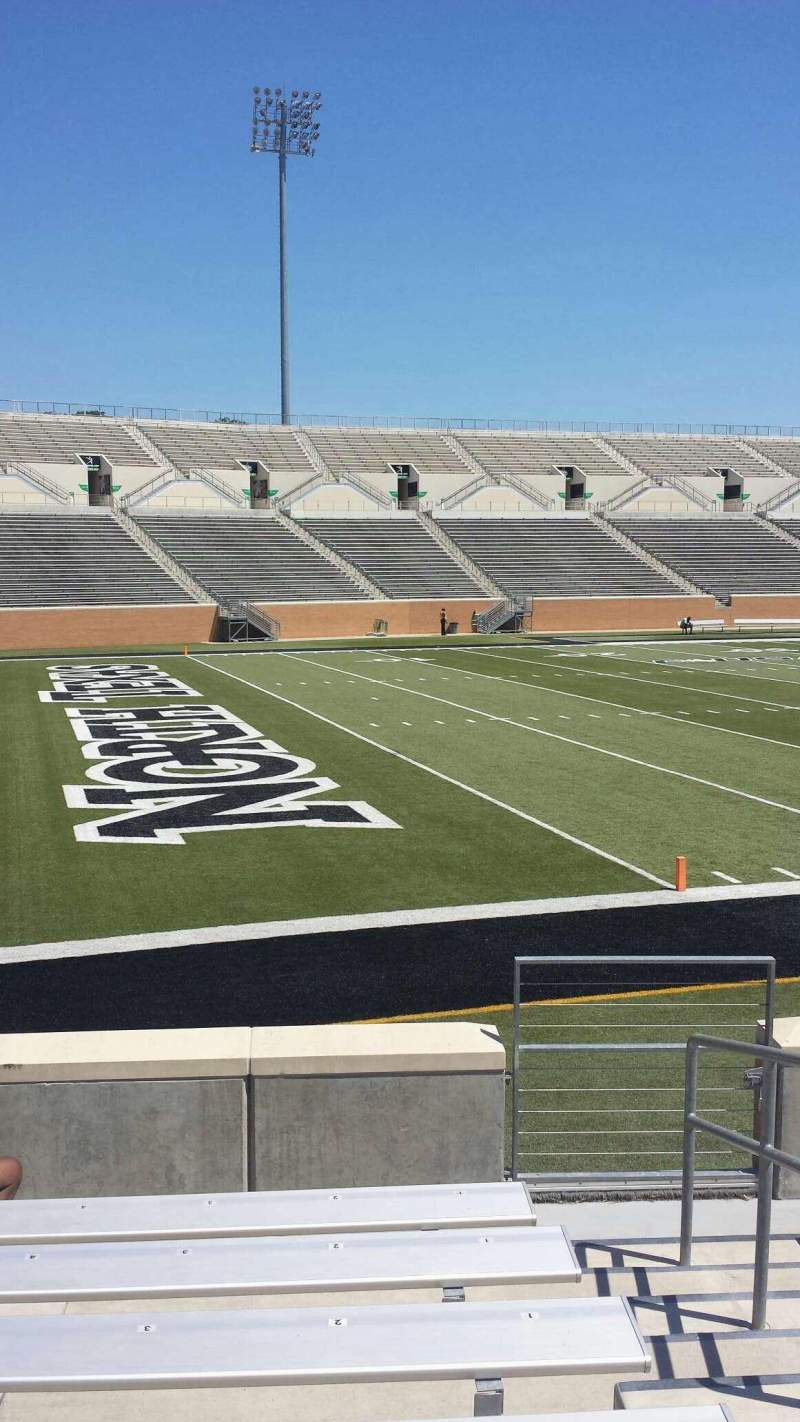 Apogee Stadium, section: 109, row: 7, seat: 2