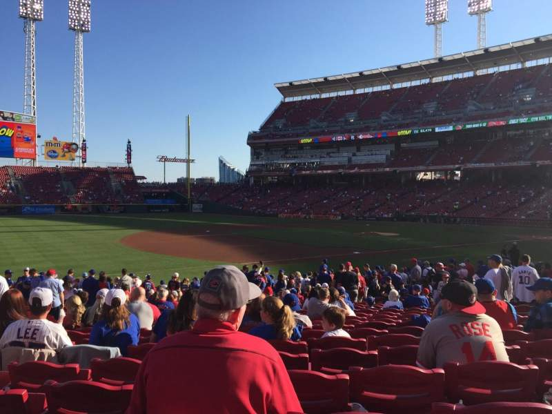 Seating view for Great American Ball Park Section 113 Row W Seat 13