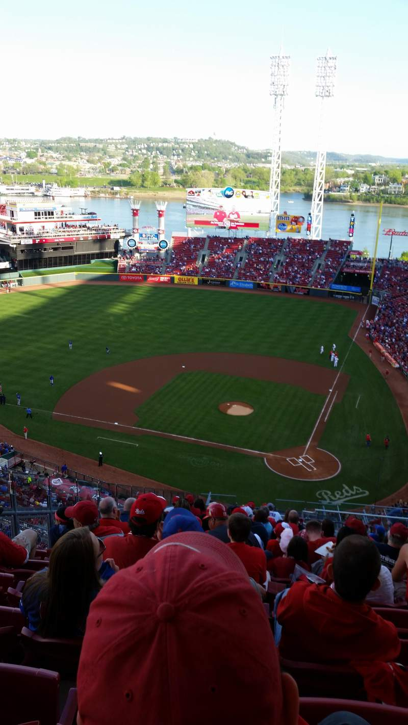 Seating view for Great American Ball Park Section 520 Row U Seat 7