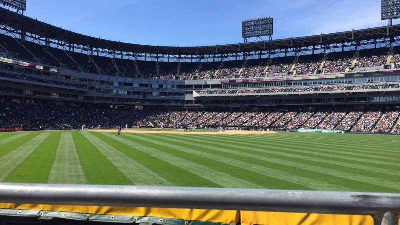 Seating view for Guaranteed Rate Field Section 102 Row 1 Seat 10