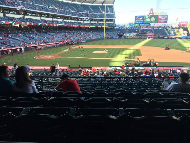 Seating view for Angel Stadium Section T223 Row F Seat 11