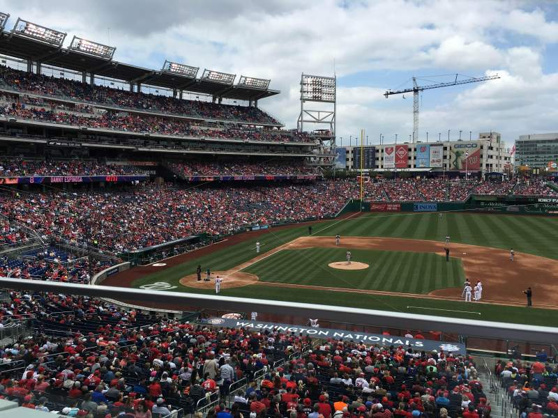 Seating view for Nationals Park Section 219 Row a Seat 12