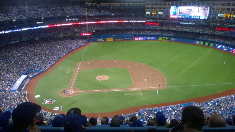 Seating view for Rogers Centre Section 520 Row 15 Seat 10