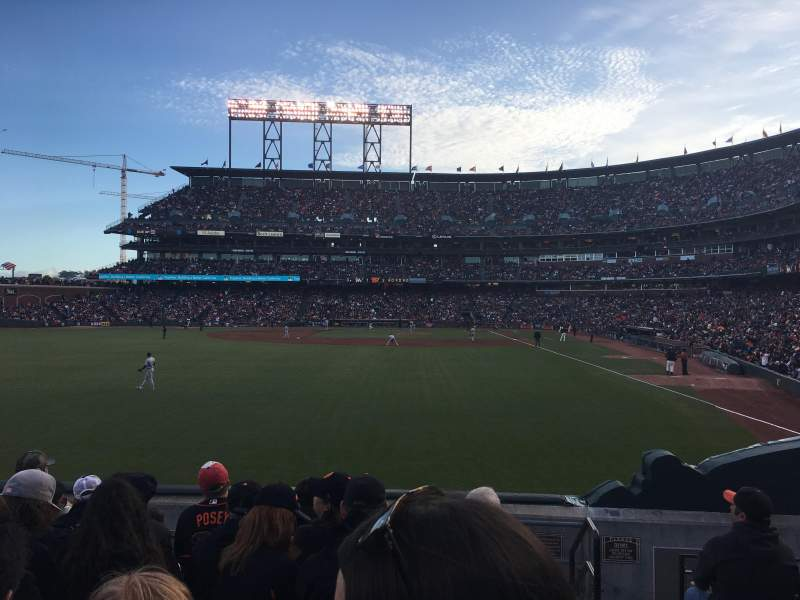 Seating view for AT&T Park Section B137 Row 7 Seat 1