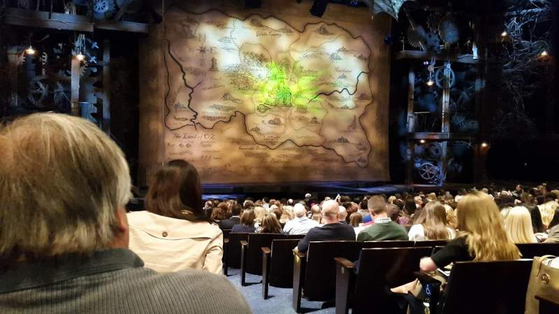 Seating view for Gershwin Theatre Section Orchestra L Row N Seat 1