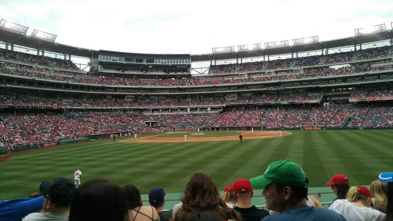 Seating view for Nationals Park Section 141 Row F Seat 21