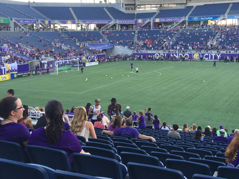 Seating view for Camping World Stadium Section 109 Row Y Seat 10