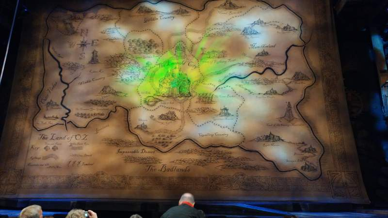 Seating view for Gershwin Theatre Section Orchestra C Row B Seat 113