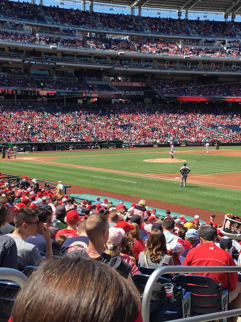 Seating view for Nationals Park Section 133 Row AA Seat 18
