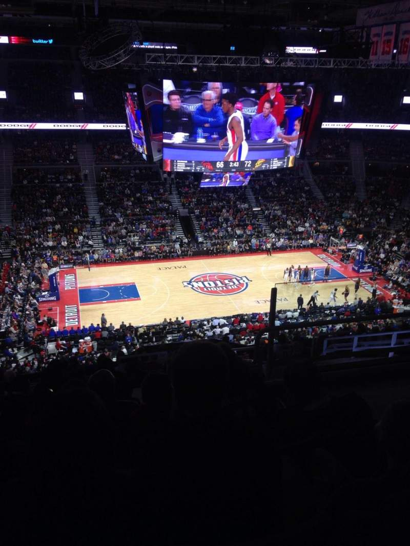 Seating view for The Palace of Auburn Hills Section 217 Row 13 Seat 4