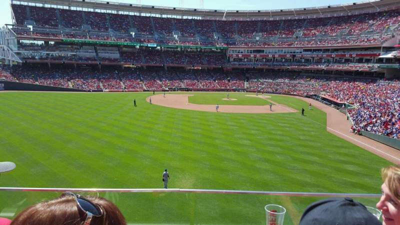 Seating view for Great American Ball Park Section 404 Row B Seat 18