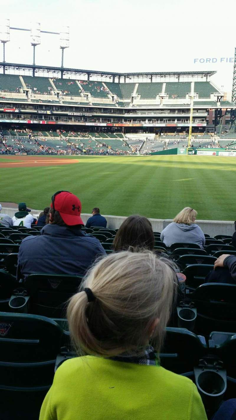 Seating view for Comerica Park Section 112 Row 28 Seat 15