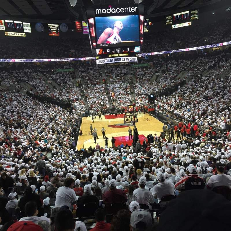Seating view for Moda Center Section 209 Row G Seat 6