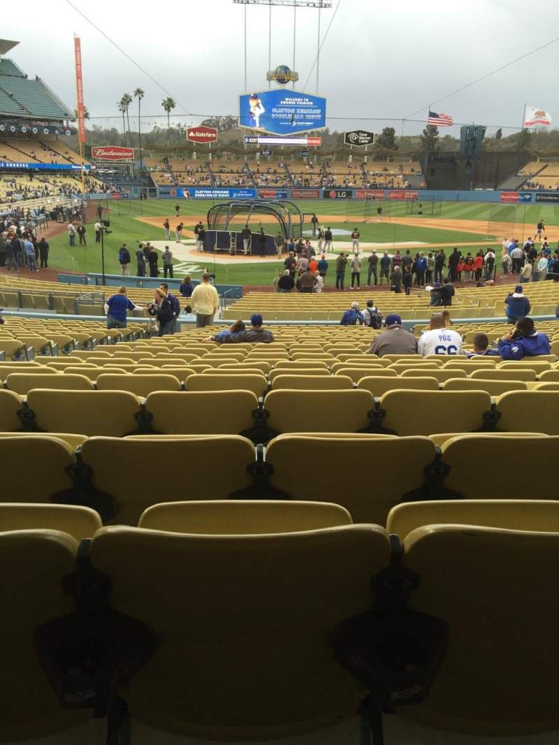 Seating view for Dodger Stadium Section 6fd Row w Seat 6
