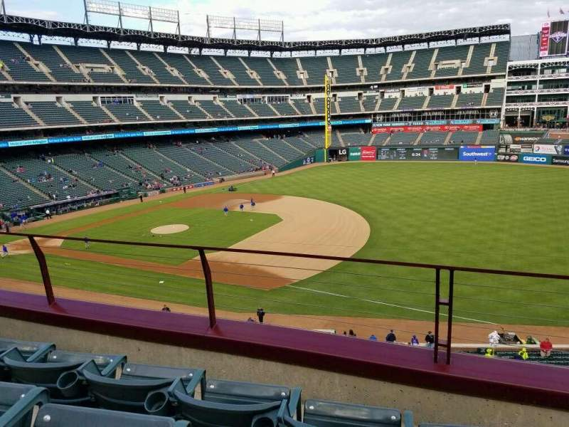Seating view for Globe Life Park in Arlington Section 236 Row 3 Seat 15