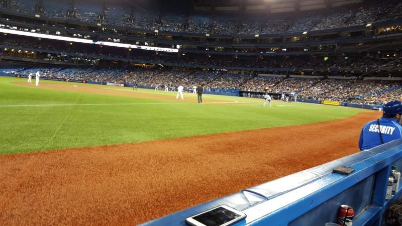 Seating view for Rogers Centre Section 130AL Row 1 Seat 109