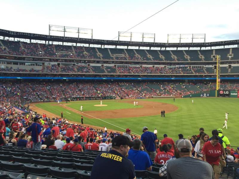 Seating view for Globe Life Park in Arlington Section 39