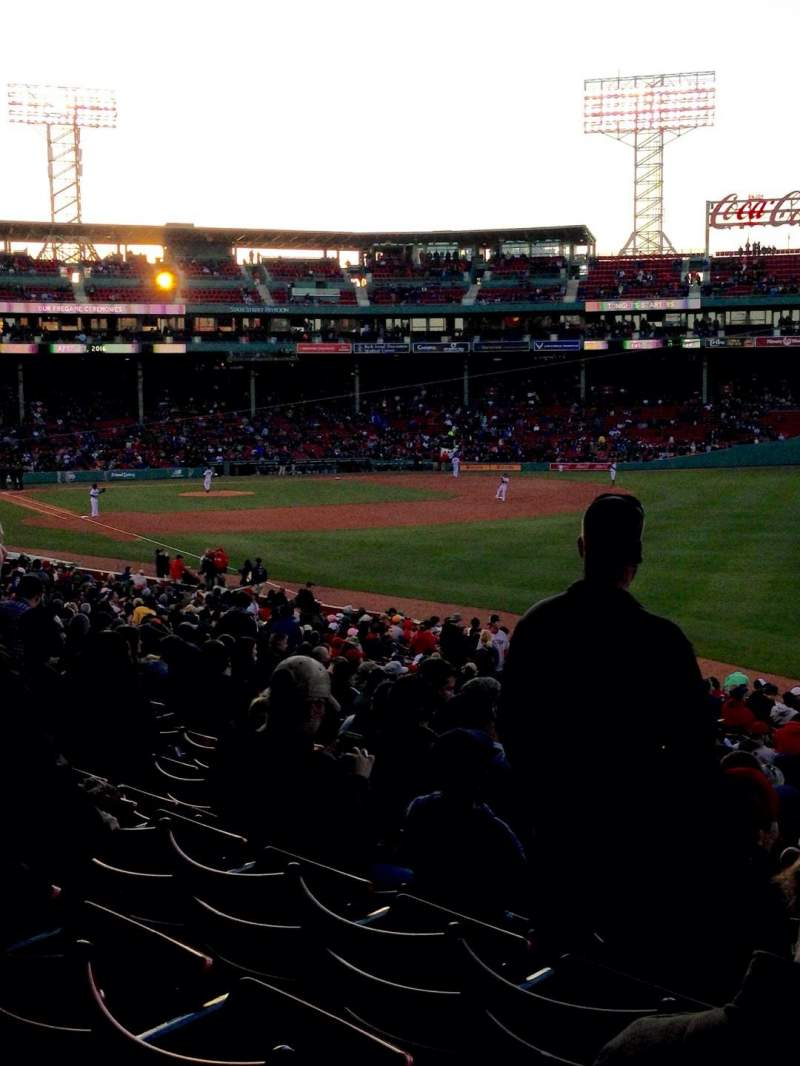 Seating view for Fenway Park Section Grandstand 7 Row 1 Seat 12-13